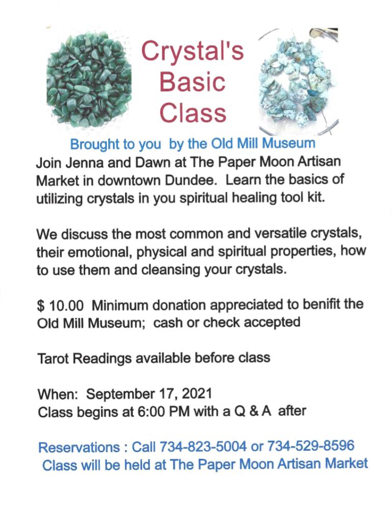 Crystals Basic Class