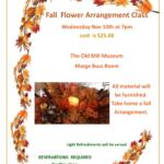 Fall Flower Arrangement Class Flyer