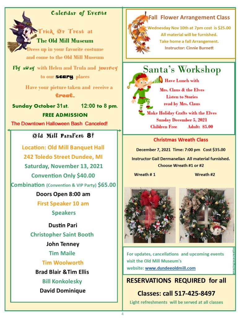 October Calendar of Events #2